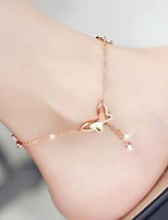 cheap -Women's Ankle Bracelet Butterfly Fashion Anklet Jewelry Gold / Silver For Daily