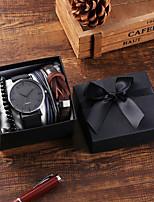 cheap -Unisex Sport Watch Quartz PU Leather Black / Blue / Brown Chronograph Casual Watch Cool Analog Vintage Fashion - Black Blue Blushing Pink