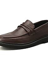 cheap -Men's Summer Classic Daily Loafers & Slip-Ons PU Black / Brown / Gray