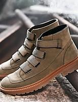 cheap -Men's Summer Outdoor Loafers & Slip-Ons PU Black / Khaki