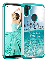 cheap -2in1 Taping Colorful Pattern Cover Sea Live It Phone Case For Samsung Galaxy A11 A71 A21 A51 A50(2019) A30(2019) A20(2019)
