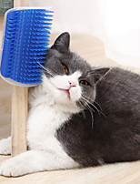 cheap -Cat Brushes Cleaning Plastic Dog Clean Supply Massage Pet Grooming Supplies Pink Blue Gray