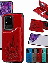 cheap -Case For Samsung Galaxy S20 / S20 Plus / S20 Ultra Wallet / Card Holder / with Stand Back Cover Skull Embossing PU Leather / TPU for Galaxy S10 / S10E / S10 Plus / A50(2019) / A30S(2019)