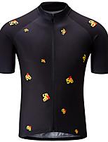 Недорогие -21Grams Муж. С короткими рукавами Велокофты Черный / желтый Велоспорт Джерси Верхняя часть Горные велосипеды Шоссейные велосипеды Устойчивость к УФ Дышащий Быстровысыхающий Виды спорта Одежда