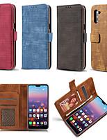 Недорогие -Кейс для Назначение SSamsung Galaxy S9 / S9 Plus / S8 Plus Бумажник для карт / Защита от пыли / Флип Чехол Однотонный Кожа PU / ТПУ