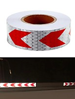 cheap -36m Arrow Sticker Red White Night Reflective Sticker Safety Warning Conspicuity Tape Strip