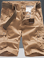 """cheap -Men's Hiking Shorts Hiking Cargo Shorts Summer Outdoor 10"""" Loose Breathable Quick Dry Sweat-wicking Comfortable Cotton Shorts Bottoms Camping / Hiking Hunting Fishing Black Army Green Khaki 28 29 30"""