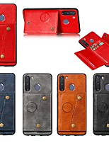 cheap -Case For Samsung Galaxy A91 / M80S / A81 / M60S / S20 Plus Card Holder / with Stand / Magnetic Back Cover Solid Colored PU Leather