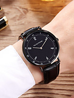 cheap -Men's Sport Watch Quartz Genuine Leather 30 m Water Resistant / Waterproof Calendar / date / day Day Date Analog Fashion Cool - Black Brown Black / White One Year Battery Life