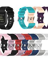 Недорогие -спортивный силиконовый ремешок для часов ремешок на руку для fitbit versa 2 / versa lite сменный браслет браслет