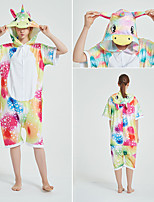 cheap -Adults' Kigurumi Pajamas Unicorn Flying Horse Onesie Pajamas Terylene Yellow / Pink / Blue Cosplay For Men and Women Animal Sleepwear Cartoon Festival / Holiday Costumes / Leotard / Onesie