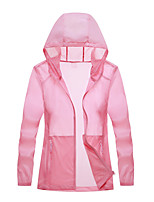 cheap -Women's Hiking Skin Jacket Hiking Jacket Summer Outdoor Sunscreen Breathable Quick Dry Anti-Mosquito Jacket Top Single Slider Running Hunting Fishing White / Fuchsia / Grey / Green / Blue