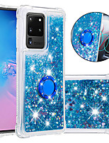 cheap -Case For Samsung Galaxy S20 Plus / S20 Ultra / S20/S9/S9PLUS/S10E/S10PLUS/S10/S10 5G/S8/S8 plus/A71/A51 Shockproof / Flowing Liquid / Ring Holder Back Cover Glitter Shine TPU