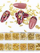 Недорогие -1 коробка золото ногтей искусство сплав шпильки приморские 3d украшения морские раковины звезды перья очарование металлический полая рамка заклепки аксессуары для ногтей