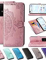 cheap -Mandala Embossed Leather Wallet Flip Case for Samsung Galaxy S20 Ultra S20 Plus A51 A71 A91 A81 A41 A31 A21 A11 A01 A20e A70 A60 A50 A40 A30 A10 A9 A7 2018 S10 S9 S8 Note 10 Card Stand Cover