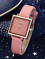 cheap -Ladies Quartz Watches Elegant Fashion White Blue Brown PU Leather Chinese Quartz White Black Blue Casual Watch 1 pc Analog One Year Battery Life