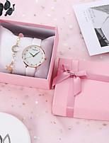 cheap -Women's Quartz Watches Quartz Stylish Casual Chronograph Analog White Black Blue / PU Leather