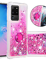 cheap -Case For Samsung Galaxy S20 Plus / S20 Ultra / S20/S9/S9PLUS/S10E/S10PLUS/S10/S8/A71/A51/A10s/A20s/A30s Shockproof / Flowing Liquid / Ring Holder Back Cover Glitter Shine TPU