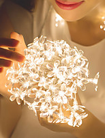 cheap -10m Romantic Sakura String Lights 80 LEDs  Warm White White Blue Halloween Christmas Party Fantasy Fairy Tale World Decorative Wedding  Garden Courtyard Decoration Lamp AA Batteries Powered 1 set