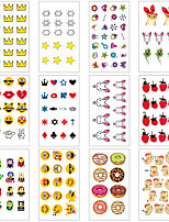 cheap -12 pcs Temporary Tattoos Water Resistant / Waterproof / Mini Style / Safety Face / Body / Hand Water-Transfer Sticker Body Painting Colors
