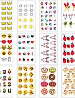 Недорогие -12 pcs Временные татуировки Защита от влаги / Мини / Безопасность Лицо / Корпус / руки Наклейка для переноса воды Краски для рисунков на теле