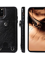 cheap -Case For Apple iPhone 11 / iPhone 11 Pro / iPhone 11 Pro Max Card Holder / Shockproof Full Body Cases Solid Colored PU Leather / TPU