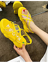 cheap -Women's Sandals Summer Creepers Open Toe Daily PU Yellow / Red / Pink