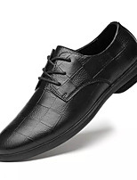 cheap -Men's Summer Casual Daily Oxfords PU Non-slipping Black / Brown