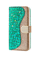 cheap -Case For Samsung Galaxy a10 m20 m30 a20 a30 a20E a50 a40 a60 a70 Card Holder Magnetic Glitter Shine Full Body Cases Solid Colored Glitter Shine PU Leather