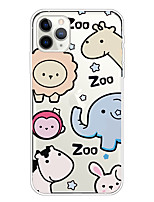 cheap -Case For Apple iPhone 11/11 Pro/11 Pro Max/XS/XR/XS Max/8 Plus/7 Plus/6S Plus/8/7/6/6s/SE/5/5S Transparent Pattern Back Cover Zoo Soft TPU