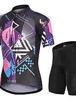 cheap -Nuckily Men's Short Sleeve Cycling Jersey with Shorts Black Funny Bike Sports Funny Road Bike Cycling Clothing Apparel