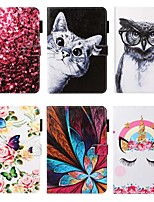 cheap -Case For Apple iPad 10.2 / iPad Mini 3/2/1 /Mini 4/5 Wallet / Card Holder / with Stand Full Body Cases Cat / Animal / Flower PU Leather For iPad Pro 9.7/New Air 10.5 2019/Air 2/2017/2018