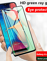 cheap -Green Light Screen Protector for Samsung Galaxy A10/A20/A20s/A30/A50/A60/A80 Full Tempered Glass Film Eye protection Screen Protector High Definition (HD) / 9H Hardness
