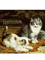 Недорогие -печать рулонных отпечатков на холсте - абстрактные натуры&усилитель; на открытом воздухе современные репродукции картин собак и кошек живопись маслом для гостиной современная печатная печать и