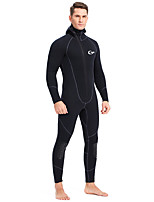 cheap -YON SUB Men's Full Wetsuit 3mm SBR Neoprene Diving Suit Windproof Anatomic Design Long Sleeve Front Zip Solid Colored Autumn / Fall Spring Summer / Micro-elastic