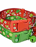 cheap -Dog Cat Pets Collar Portable Retractable Soft Cute and Cuddly Adjustable Flexible Durable Casual / Daily Classic Christmas Polyester Beagle Bulldog Shiba Inu Pug Bichon Frise Schnauzer Red Pink 1pc