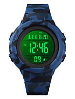 Недорогие -SKMEI Муж. Спортивные часы Цифровой Современный Спортивные силиконовый Черный / Синий / Зеленый 50 m Календарь Секундомер будильник Цифровой На каждый день На открытом воздухе - Черный Синий Зеленый