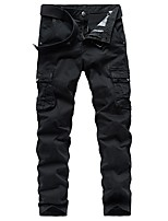 cheap -Men's Hiking Pants Hiking Cargo Pants Summer Outdoor Slim Breathable Quick Dry Soft Sweat-wicking Cotton Pants / Trousers Bottoms Running Camping / Hiking Hunting Dark Grey Black Khaki 29 30 31 32 33