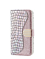 cheap -Case For Samsung Galaxy s10 5G s20 s20plus s20ultra j4 j4plus j6 j6plus a5 m10 Card Holder Magnetic Glitter Shine Full Body Cases Solid Colored Glitter Shine PU Leather
