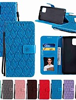 cheap -Case For LG LG K40 / LG K50 / LG Stylo 5 Wallet / Card Holder / with Stand Rattan Flower Embossing PU Leather / TPU for LG V30 / LG V40 / LG G8 / LG Stylo 4