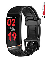 cheap -E98 Temperature measuring Bracelet Heart Rate Fitness Tracker Pedometer Call Reminder Sleep Monitoring Couple bracelet IP67 women Bracelet