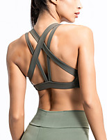 cheap -Women's Sports Bra Medium Support Cross Back Removable Pad Fashion Black Purple Army Green Yoga Running Fitness Bra Top Sport Activewear Breathable Comfort Quick Dry Freedom Stretchy
