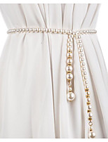 cheap -Metalic Party / Evening / Dailywear Sash With Imitation Pearl / Belt Women's Sashes