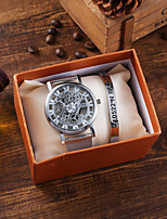 cheap -Men's Sport Watch Quartz Stylish Titanium Alloy Chronograph Hollow Engraving New Design Analog Fashion Skeleton - Silver