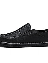 cheap -Men's Summer Casual Daily Loafers & Slip-Ons PU Non-slipping Black and White / White / Black