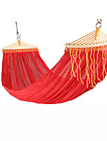 cheap -Camping Hammock Outdoor Breathability Wearable Reusable Adjustable Flexible Folding Nylon PVA Ice Silk for 2 person Hunting Hiking Beach Blue Red Green 200*150 cm Pop Up Design