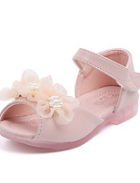 cheap -Girls' Comfort PU Sandals Toddler(9m-4ys) / Little Kids(4-7ys) Flower Pink / Beige Spring / Summer