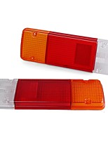 cheap -Pair Rear Tail Light Brake Lamp Lens Cover White Red Amber For Toyota Hilux Landcruiser Ute