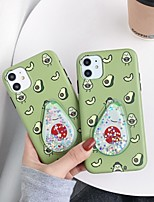 cheap -Case For Apple iPhone 11 / iPhone 11 Pro / iPhone 11 Pro Max Flowing Liquid / IMD / Frosted Back Cover Food TPU