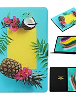 cheap -Case For Samsung Galaxy Tab A 10.1(2019)T510/Tab A 8.0(2019)T290/295 /Tab S6 T860/865 Card Holder / with Stand/Pattern Full Body Cases Food PU Leather For Tab S6lite P610/P615/Tab S5E T720